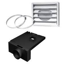 5 Ø fresh air intake kit for wood stove