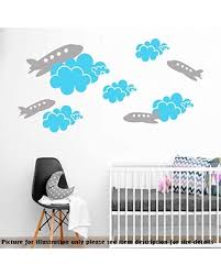 New Savings On Airplane Decal Nursery Personalised Name Wall Decal Child S Room Wall Decal Cloud Decal Removable Vinyl Wall Sticker