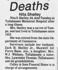 Nita Smith Shelley obituary - Newspapers.com