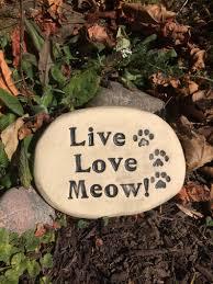 love meow cat garden decor