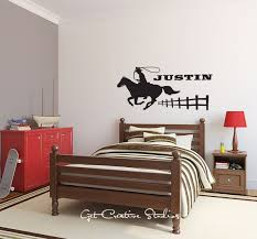 Rope Cowboy Decal Personalized Name Rodeo Wall Decal Country Western Decor Cowboy Up Boys Room Wal Personalized Wall Decals Sports Wall Decals Name Wall Decals