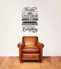 Red Barrel Studio Hitching Music Gives A Soul To The Universe Wall Decal Wayfair