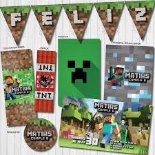 Kit Imprimible Personalizado Minecraft Listo Para Imprimir
