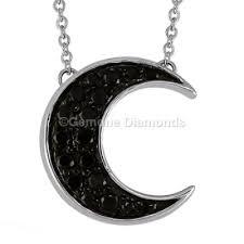 crescent moon shaped pendant 0 15 carat