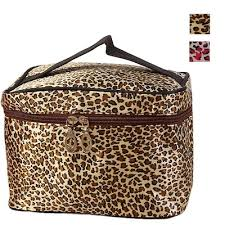 lucky zebra leopard print cosmetic bags