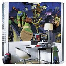 Teenage Mutant Ninja Turtles Chair Rail Giant Ultra Strippable Prepasted Mural Entertainment Earth