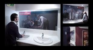 attractive two way mirror bathroom