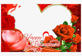 valentine day photo frame png