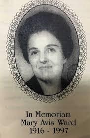 Mary Avis Slate Ward (1916-1997) - Find A Grave Memorial