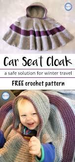crochet car seat cloak free pattern