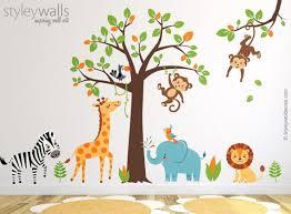Jungle Wall Decal Safari Wall Decal Jungle Animals Wall Etsy