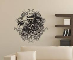 Vinyl Wall Decal Sticker Eagle Head Design 1256 Stickerbrand