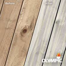 Olympic Maximum 1 Gal Outside White Semi Transparent Exterior Stain And Sealant In One Low Voc Oly900 01 The Home Depot