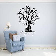 Tree House Wall Decal Vinyl Sticker Fairy Tale Owls Home Art Etsy
