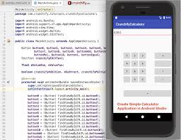 create simple calculator android app