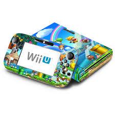 Amazon Com New Super Mario Bros U Decorative Decal Cover Skin For Nintendo Wii U Console And Gamepad Video Games