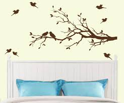 Tree Branch With 10 Birds Wall Decal Deco Art Sticker Mural In Dark Brown Nursery Wall Decals Tree Birch Tree Wall Decal Tree Wall Decor