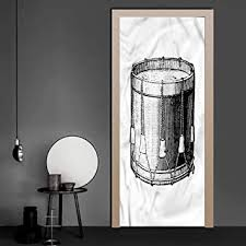 Amazon Com Wall Stickers Decals Snare Drum Vintage Style Art Melody 3d Door Stickers Decal Easy To Install 30 3 X 78 7 Inch Baby