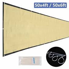50x4ft 50x6ft Privacy Fence Windbreak Screen Knitted Garden Patio Shade Mesh Hdpe Beige Wish