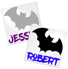 Personalized Bat Decal For Cup Tumbler Glass Decals By Adavis
