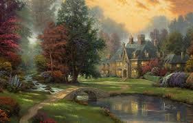 duck river landscape painting