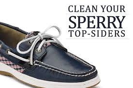 clean your sperry top siders clean