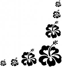 Hibiscus Flower Corner Car Or Truck Window Decal Sticker Rad Dezigns