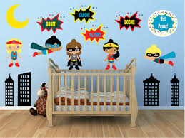 Superhero Wall Decals Girls Room Wall Decals Nursery Wall Etsy