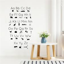 Abc Letter Picture Icon Silhouette Wall Decal Vinyl Art Sticker Vinyl Nursery Kids Room Wall Decals Wall Sticker Home Decoration Wish