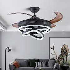 nordic bedroom decor led ceiling fan