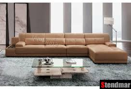 3pc modern genuine leather sectional