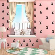 Amazon Com 21pcs Easter Rabbits Bunny Wall Stickers Lovely Bunnies Wall Wall Decals Bedroom Room House Window Art Mural Decals Hot Pink About 52x30cm 20 4in 11 8 In Kitchen Dining