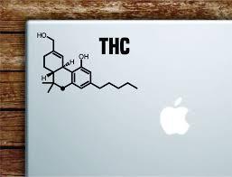 Thc Molecule Laptop Wall Decal Sticker Vinyl Art Quote Macbook Decor C Boop Decals