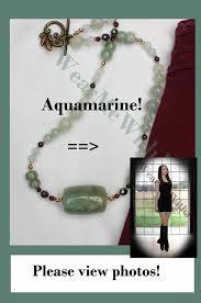 genuine aquamarine necklace bold