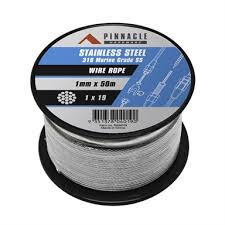 Pinnacle 1mm X 50m 316 Stainless Steel Wire Rope Bunnings Warehouse