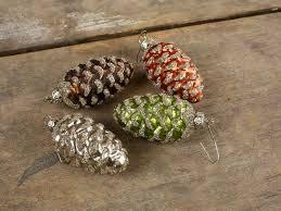 vintage pine cone ornaments glass