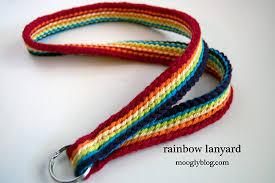 free pattern rainbow lanyard