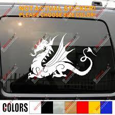 Anglo Saxon White Dragon Decal Sticker England English Car Vinyl Pick Size E Car Stickers Aliexpress