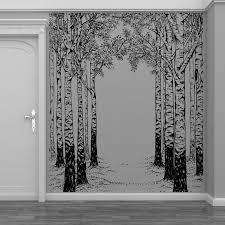 Isabelle Max Birch Tree Forest Vinyl Wall Decal Wayfair