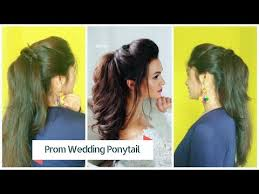 easy prom ponytail hairstyle for bride