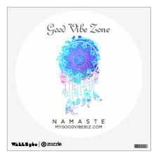 Good Vibe Zone Dream Catcher Mandal Wall Decal Zazzle Com