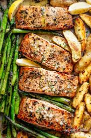 Garlic Butter Baked Salmon - Cafe Delites
