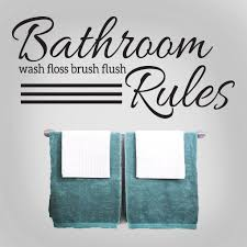 Shop Bathroom Rules 48 X 22 Inch Wall Decal Overstock 11138692