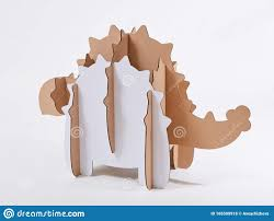 Dinosaur Ankylosaurus Made Of Cardboard Idea For The Birthday Party Dino Party Or Photo Session Stock Photo Image Of Happiness Fantasy 185509918