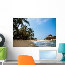Beach Hut Tropical Caribbean Wall Decal Wallmonkeys Com