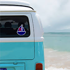 Sailboat Personalized Window Decal Or Bumper Sticker Car Window Decal V