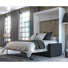 bestar edge 2 piece queen wall bed set