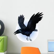 Flying Raven Wall Decal Wallmonkeys Com