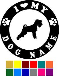 Schnauzer Dog Car Decal With Custom Name