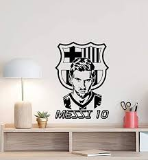Amazon Com Lionel Messi Wall Decal 10 Sign Soccer Poster Sport Football Player Gift Kids Children Room Vinyl Sticker Gym Decor Playroom Wall Made In Usa Fast Delivery Home Kitchen